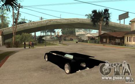 Batmobile Tas v 1.5 pour GTA San Andreas sur la vue arrière gauche