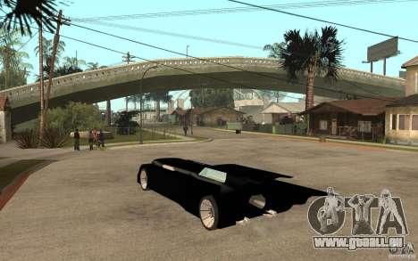 Batmobile Tas v 1.5 für GTA San Andreas zurück linke Ansicht