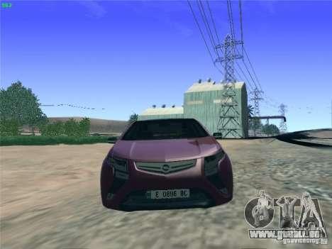 Opel Ampera 2012 pour GTA San Andreas vue de droite