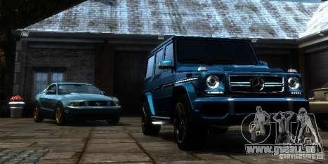Mercedes-Benz G65 AMG [W463] 2012 pour GTA 4 Vue arrière