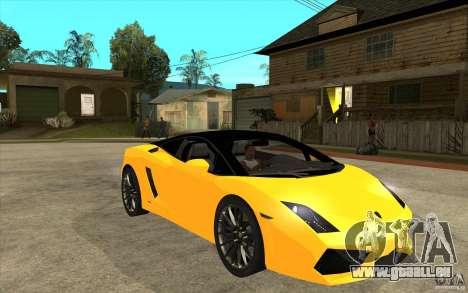 Lamborghini Gallardo LP560 Bicolore für GTA San Andreas Rückansicht