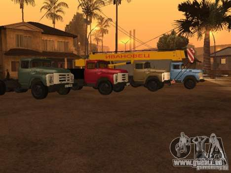 ZIL 133 für GTA San Andreas Innenansicht