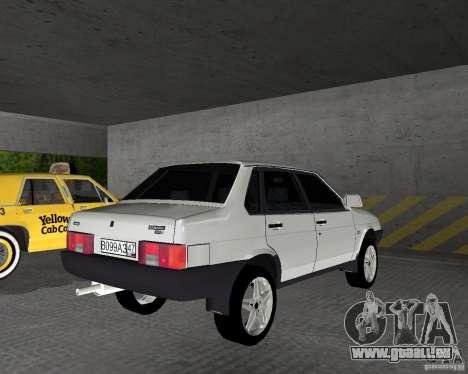 VAZ 21099 léger à l'écoute pour GTA Vice City sur la vue arrière gauche