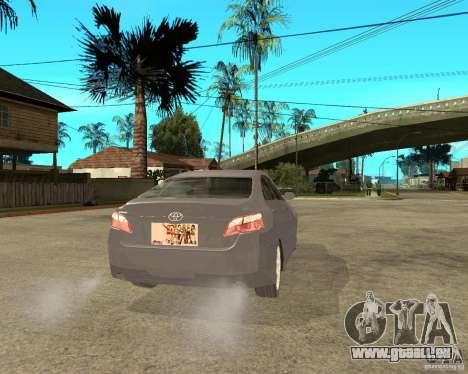 Toyota Camry XV40 2007 pour GTA San Andreas sur la vue arrière gauche