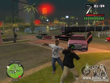 Adidas Crazy Dog T-shirt für GTA San Andreas dritten Screenshot