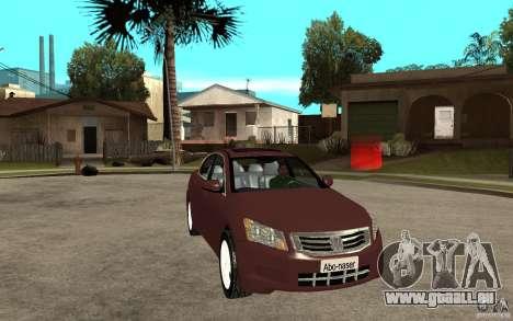 Honda Accord 2009 für GTA San Andreas Rückansicht