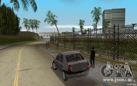 Dacia Logan 1.6 MPI für GTA Vice City zurück linke Ansicht