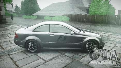 Mercedes Benz CLK63 AMG Black Series 2007 pour GTA 4 est une vue de l'intérieur