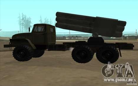 Ural 4320 Grad v2 pour GTA San Andreas vue intérieure
