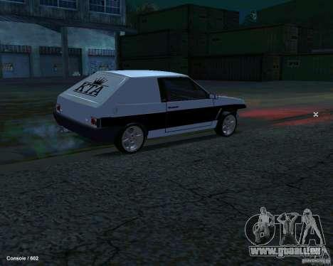 VAZ 2108 Drag für GTA San Andreas zurück linke Ansicht