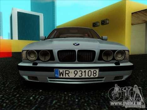 BMW 5 series E34 pour GTA San Andreas vue intérieure