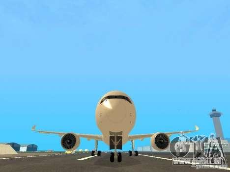 Airbus A350-900 Singapore Airlines pour GTA San Andreas vue de côté