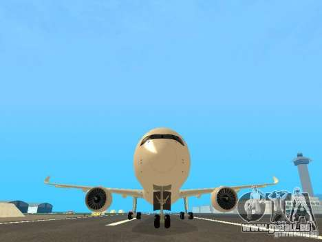 Airbus A350-900 Singapore Airlines für GTA San Andreas Seitenansicht