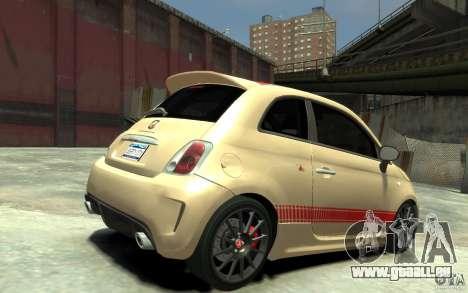 Fiat 500 Abarth Esseesse V1.0 für GTA 4 rechte Ansicht