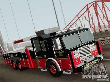 Seagrave Marauder II. SFFD Ladder 147 für GTA San Andreas linke Ansicht