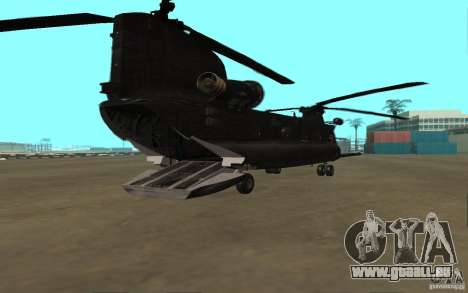MH-47G Chinook pour GTA San Andreas sur la vue arrière gauche