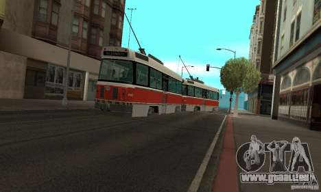Canadian Light Rail für GTA San Andreas linke Ansicht