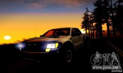 Ford F-150 SVT Raptor V1.0 pour GTA San Andreas vue intérieure