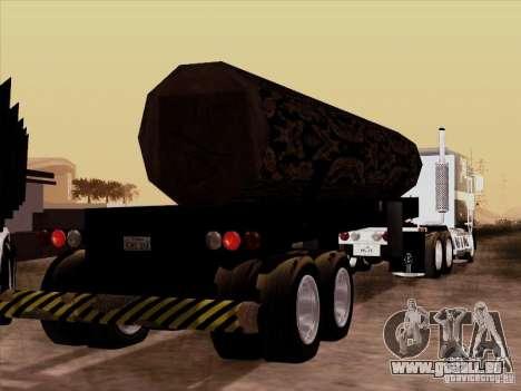 Kenworth K100 Aerodyne-trailer für GTA San Andreas Innenansicht