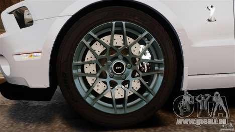 Ford Shelby GT500 2013 pour GTA 4 est une vue de l'intérieur