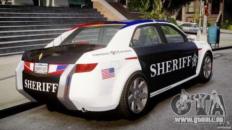 Carbon Motors E7 Concept Interceptor Sherif ELS pour GTA 4 Vue arrière de la gauche