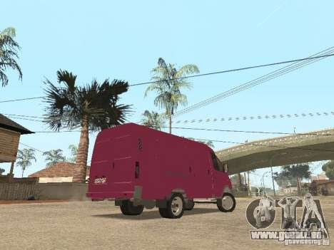 Gazelle 2705 pour GTA San Andreas vue de dessous