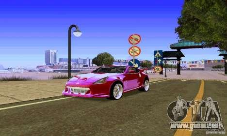 Nissan 370Z für GTA San Andreas Seitenansicht