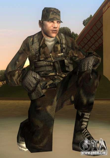 HQ skin Army pour GTA San Andreas