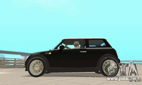 Mini Cooper Hardtop pour GTA San Andreas sur la vue arrière gauche