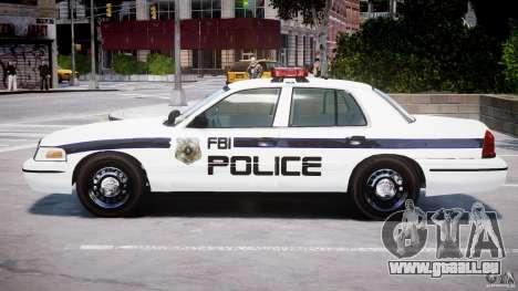 Ford Crown Victoria 2003 FBI Police V2.0 [ELS] für GTA 4 hinten links Ansicht