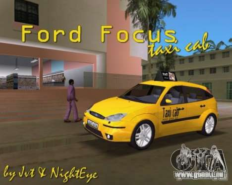 Ford Focus TAXI cab für GTA Vice City rechten Ansicht