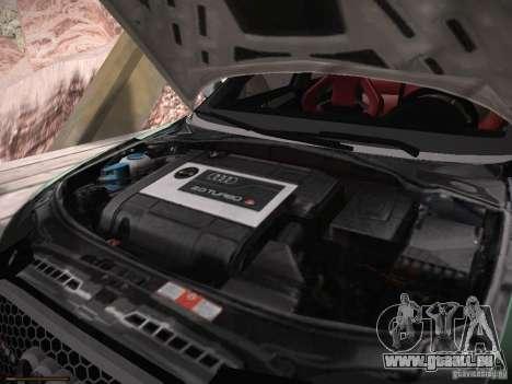Audi RS3 2011 pour GTA San Andreas vue intérieure