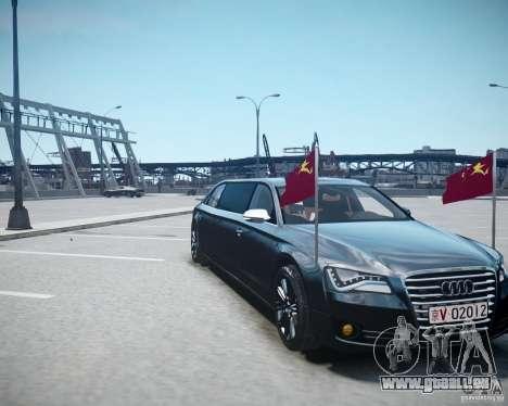Audi A8 Limo für GTA 4 obere Ansicht