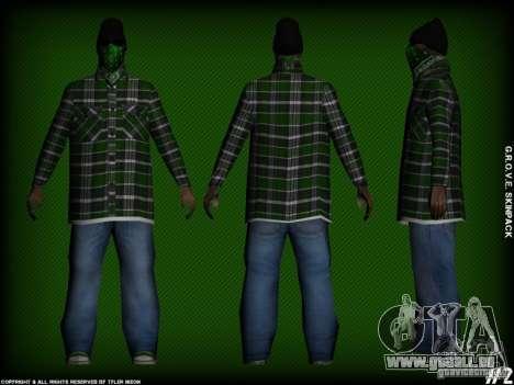 G.R.O.V.E. Skinpack pour GTA San Andreas cinquième écran