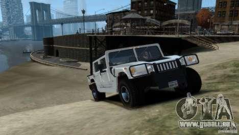 Hummer H1 pour GTA 4 Vue arrière de la gauche