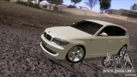 BMW 120i 2009 für GTA San Andreas linke Ansicht