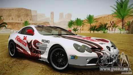 Mercedes SLR McLaren 722 Edition Final für GTA San Andreas Unteransicht