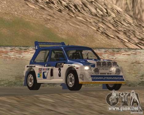 MG Metro 6M4 Group B pour GTA San Andreas vue intérieure