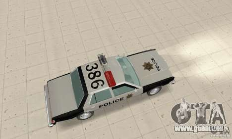 Dodge Diplomat 1985 Police pour GTA San Andreas sur la vue arrière gauche