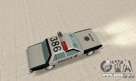 Dodge Diplomat 1985 Police für GTA San Andreas zurück linke Ansicht