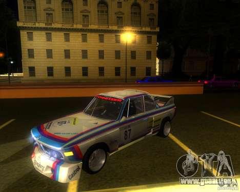BMW CSL E9 pour GTA San Andreas vue arrière