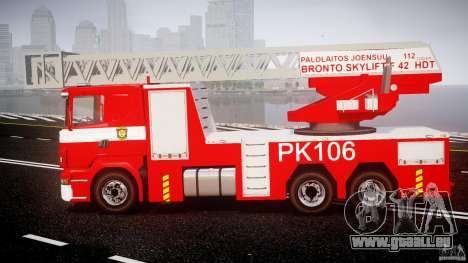Scania R580 Fire ladder PK106 [ELS] für GTA 4 linke Ansicht