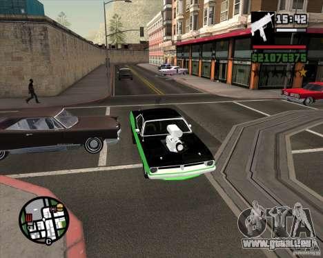 Plymouth Hemi Cuda 440 pour GTA San Andreas vue de côté