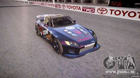 Honda S2000 Tuning 2002 Skin 1 pour GTA 4 est une vue de l'intérieur