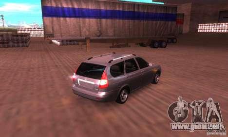 VAZ-2171 v2.0 pour GTA San Andreas sur la vue arrière gauche