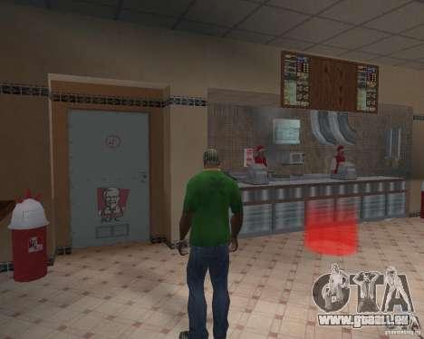 Nouvelles textures, des restaurants et des bouti pour GTA San Andreas deuxième écran