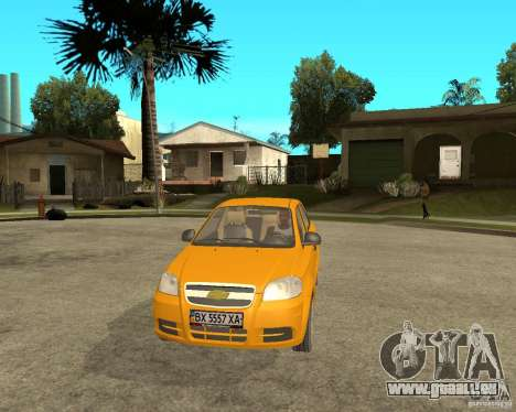 Chevrolet Aveo 2007 für GTA San Andreas Rückansicht