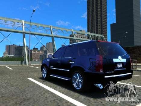 Cadillac Escalade v3 pour GTA 4 Vue arrière de la gauche