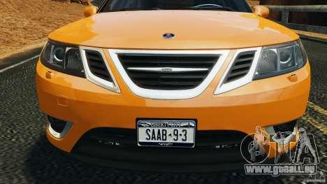 Saab 9-3 Turbo X 2008 pour GTA 4 est une vue de dessous