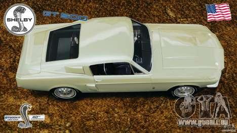 Shelby GT 500 pour GTA 4 est un droit